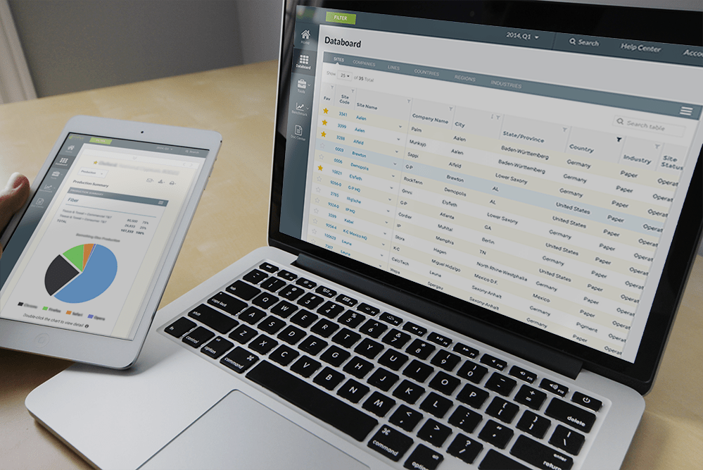 Business Intelligence web app for industry